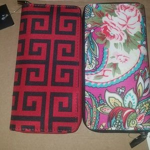 Handbags - Womens set of wallets Flower